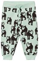 Mini Rodini Light Green Panther Sweatpants