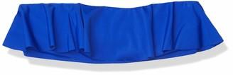 Milly Women's Vita Italian Solid Ruffle Bandeau Bikini Top