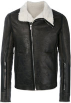 Rick Owens shearling lined jacket - men - Cotton/Calf Leather/Sheep Skin/Shearling - 48