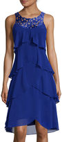 S. L. Fashions SL Fashions Sleeveless Front-Tier Cutout Dress