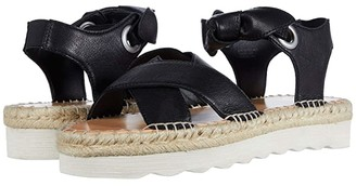 Frye Lula Bow Sandal (Black Tumbled Buffalo) Women's Shoes