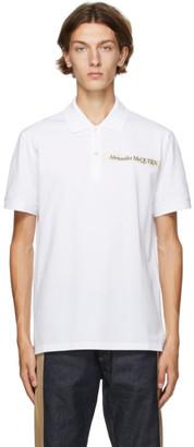 Alexander McQueen White Logo Tape Polo