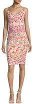 Black Halo Jevette Sleeveless Floral Sheath Dress, Multicolor