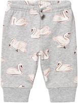 Stella McCartney Grey Swan Print Sweatpants