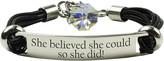Swarovski Pink Box Women's Bracelets AB - Stainless Steel 'She Believed' Bracelet With Crystals