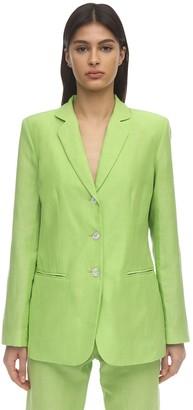 Maryam Nassir Zadeh Opal Linen Blend Blazer