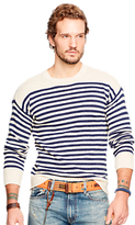 Denim & Supply Ralph Lauren Striped Jumper, Cream/navy