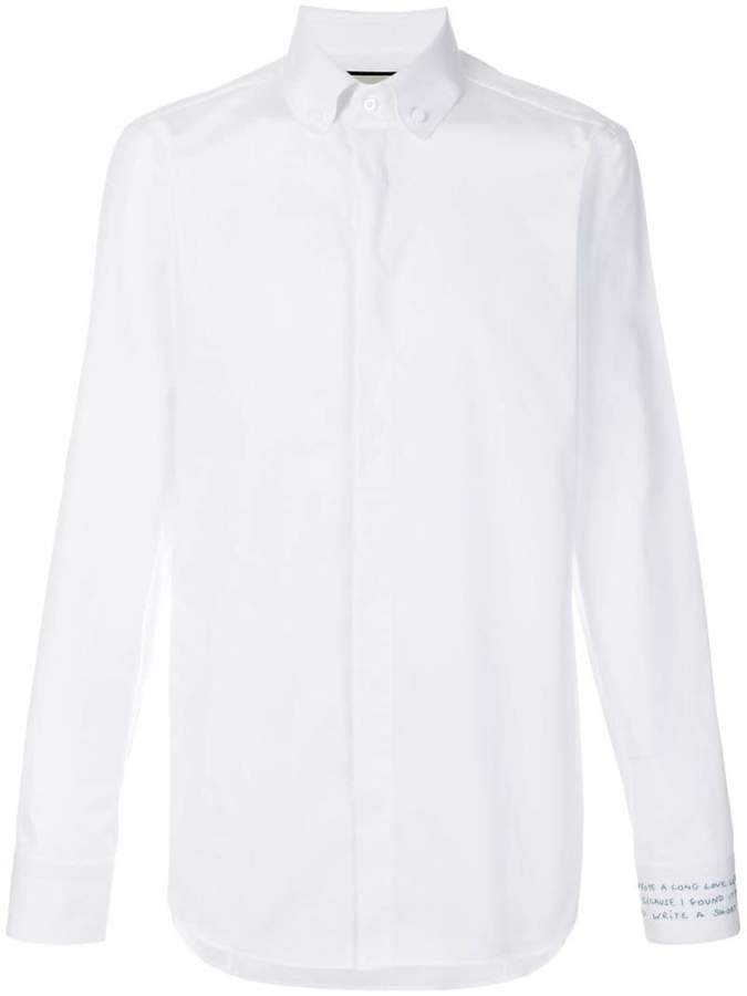 Gucci embroidered cuff shirt