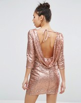 Asos Embellished Cowl Body-Conscious Mini Dress
