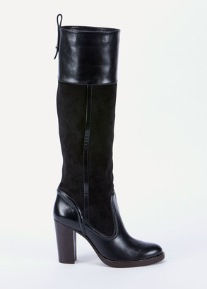 Chloé Emma Mixed Leather Tall Boots