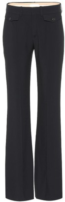 Chloé Mid-rise crepe bootcut pants