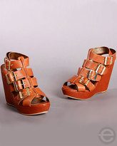 Cynthia Vincent Harper Gladiator Wedge Sandals