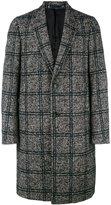 Paul Smith checked single breasted coat - men - Acrylic/Nylon/Polyester/Alpaca - M