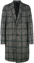Paul Smith checked single breasted coat