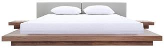 VIG Furniture Modrest Opal Modern Walnut and Gray Platform Bed, Queen
