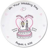 Bang On The Door Personalised Wedding Plate