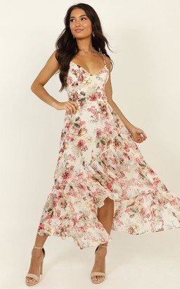 Showpo We Are Back dress in white floral - 6 (XS) Dresses
