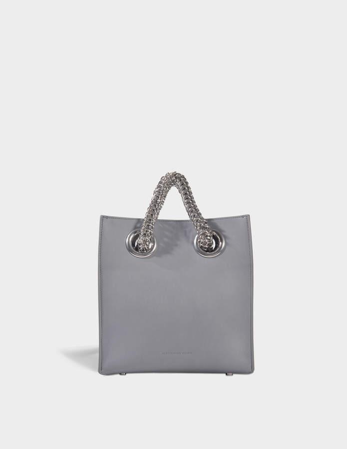 Alexander Wang Genesis Shopper Bag in Washed Denim Calfskin
