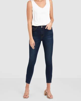 Forcast Virginia High Rise Zip Jeans