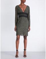 Diane von Furstenberg Viera long-sleeved floral-lace dress