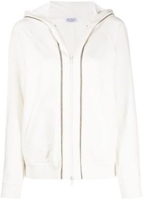 Brunello Cucinelli Zip-Through Hooded Sweatshirt