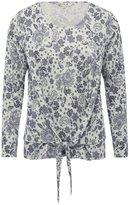 M&Co Floral print tie front top