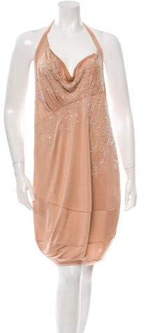 Christian Dior Bead-Embellished Evening Dress w/ Tags