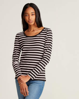 Tommy Hilfiger Long Sleeve Flag Striped Tee