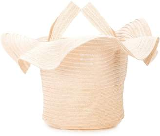 Rosie Assoulin small straw handbag