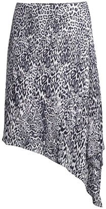 Elie Tahari Alexa Leopard-Print Asymmetric Midi Skirt