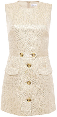 RED Valentino Metallic Jacquard Playsuit
