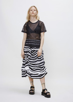 Comme des Garcons black white x white tiered ruffle skirt