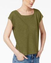 Eileen Fisher Organic Cotton-Blend Cropped Boxy Top, Regular & Petite
