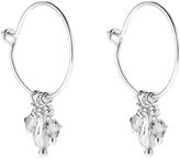 Accessorize Platinum Amalfi Sparkle Drop Earrings