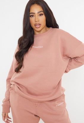 Missguided Plus Size Mauve Oversized Sweatshirt