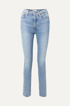 RE/DONE Comfort Stretch Double Needle High-rise Skinny Jeans - Blue