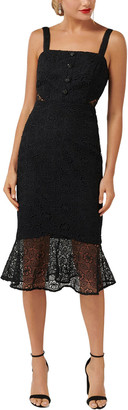 Ever New Button Detail Flippy Hem Lace Dress
