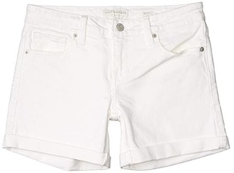 Lucky Brand Mid-Rise Roll Up Shorts in Clean White (Clean White) Women's Shorts