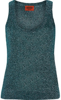 Missoni Metallic Stretch-knit Tank - Petrol