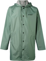 Stussy single breasted coat - men - Polyamide - S