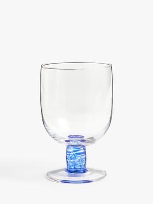 John Lewis & Partners Spot Stem Wine Glass, 420ml, Mazarine Blue