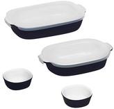 Corningware 6 Piece Bakeware Set with Lids - Midnight