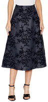 Carolina Herrera Silk Embroidered Midi Skirt