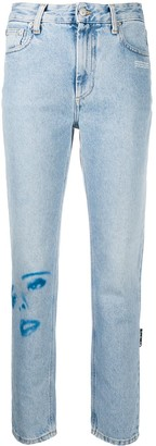 Off-White Printed Faces Straight-Leg Jeans