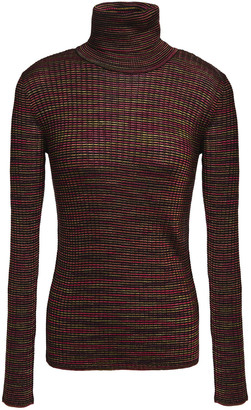 M Missoni Ribbed Crochet-knit Wool-blend Turtleneck Sweater