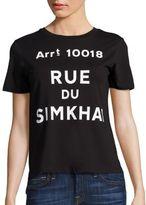 Jonathan Simkhai Rue Du Simkhai Cotton Graphic Tee