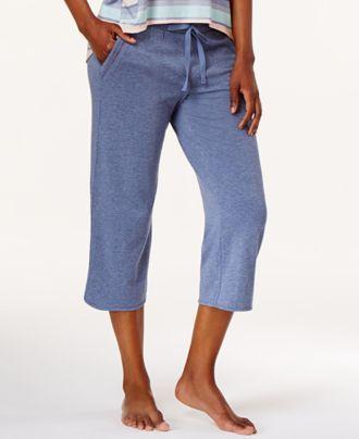 Alfani Knit Cropped Pajama Pants, Created for Macy's