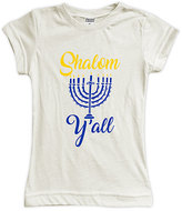 Urban Smalls Cream 'Shalom Y'all' Fitted Tee - Toddler & Girls