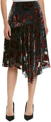 Nanette Lepore Silk-Blend Skirt