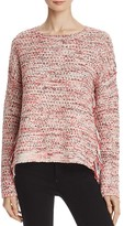 Aqua Bouclé Fringe Sweater - 100% Exclusive